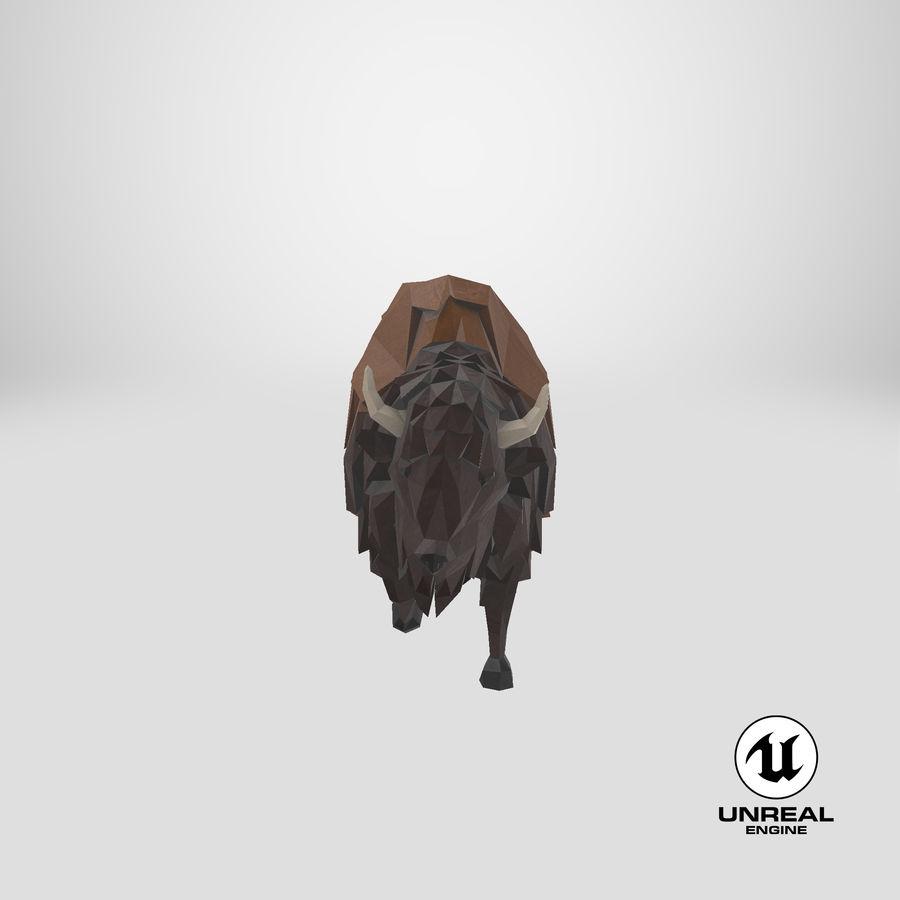 Buffalo uitgevoerd royalty-free 3d model - Preview no. 24