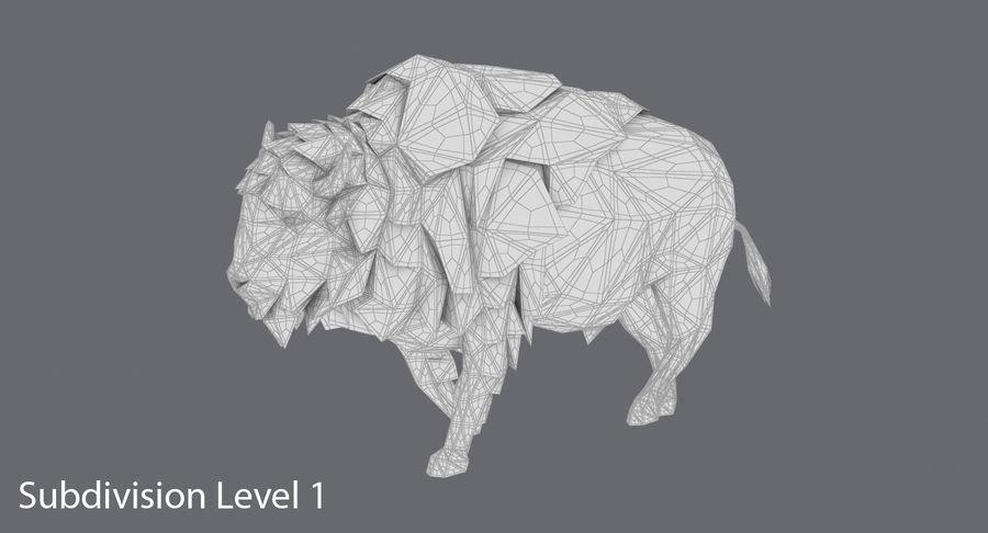 Buffalo uitgevoerd royalty-free 3d model - Preview no. 15