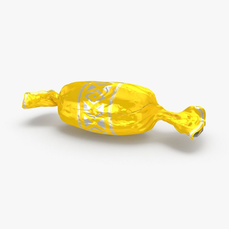 Doces Duros Amarelo royalty-free 3d model - Preview no. 1