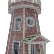 House-018-Lighthouse danneggiato 3d model