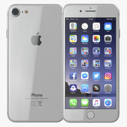 iPhone 8银色3D模型 3d model