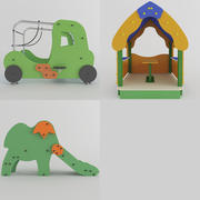 WOODEN TOY PLAYGROUND 3d model