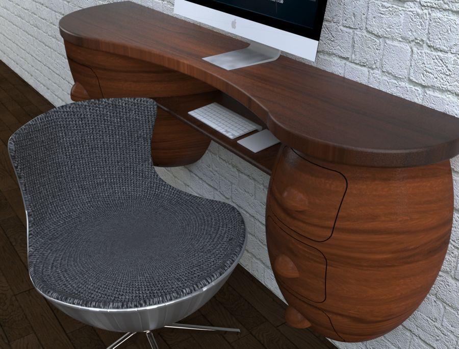 mesa de ordenador royalty-free modelo 3d - Preview no. 10