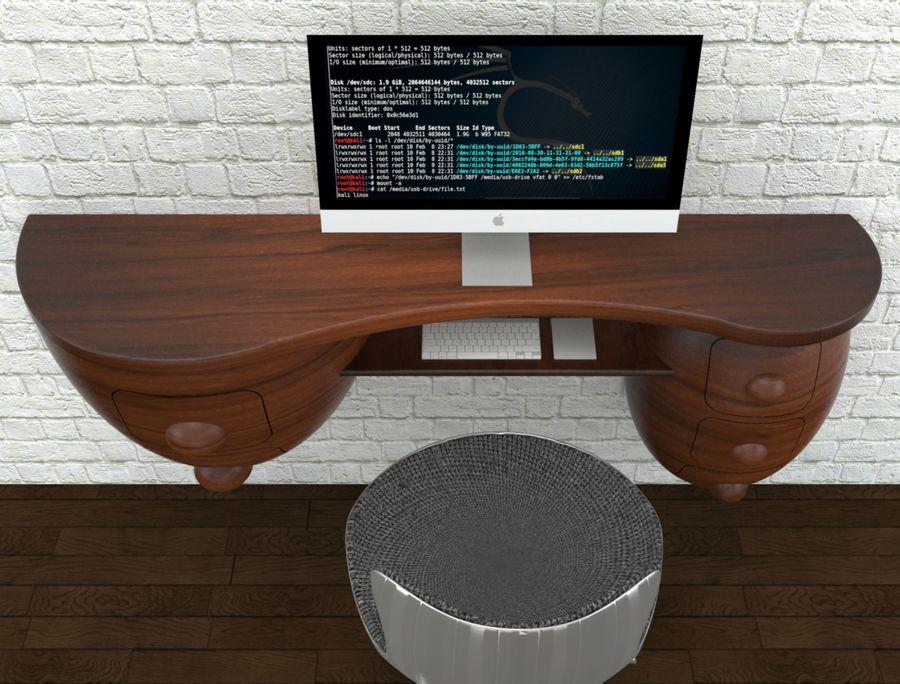 mesa de ordenador royalty-free modelo 3d - Preview no. 14