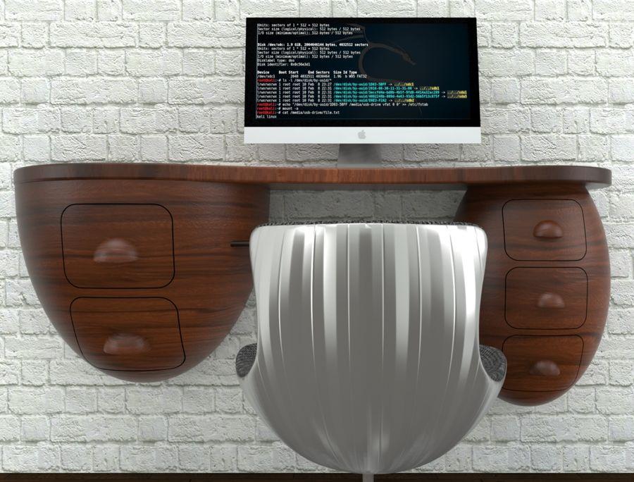 mesa de ordenador royalty-free modelo 3d - Preview no. 12