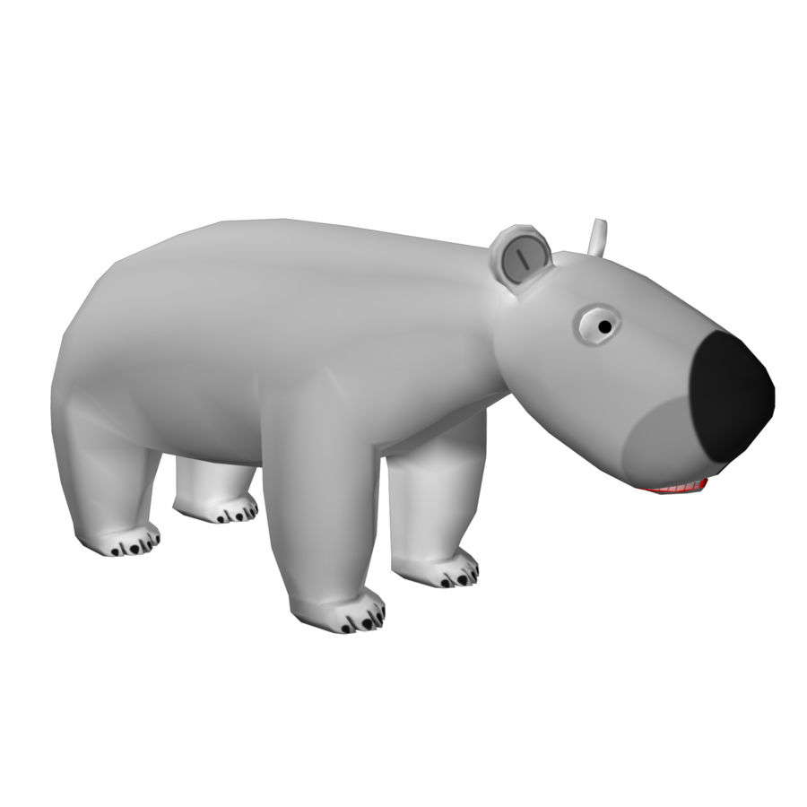 Urso polar royalty-free 3d model - Preview no. 1