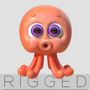 cartoon  littleOctopus 3d model