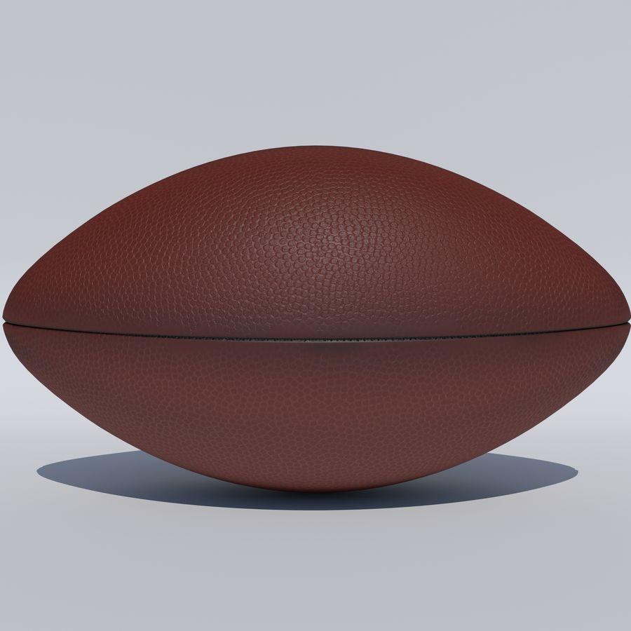 fútbol americano royalty-free modelo 3d - Preview no. 7