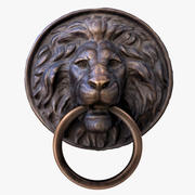 Cabeça de leão com anel 3d model