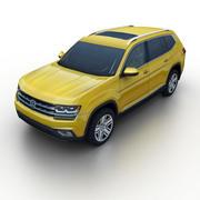 VW Atlas 2018 3d model