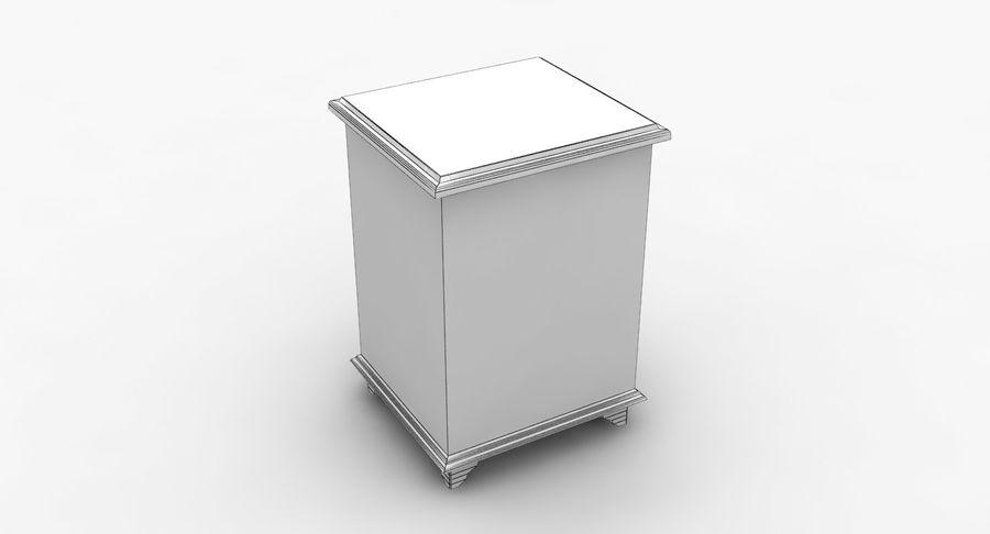침대 탁자 royalty-free 3d model - Preview no. 10
