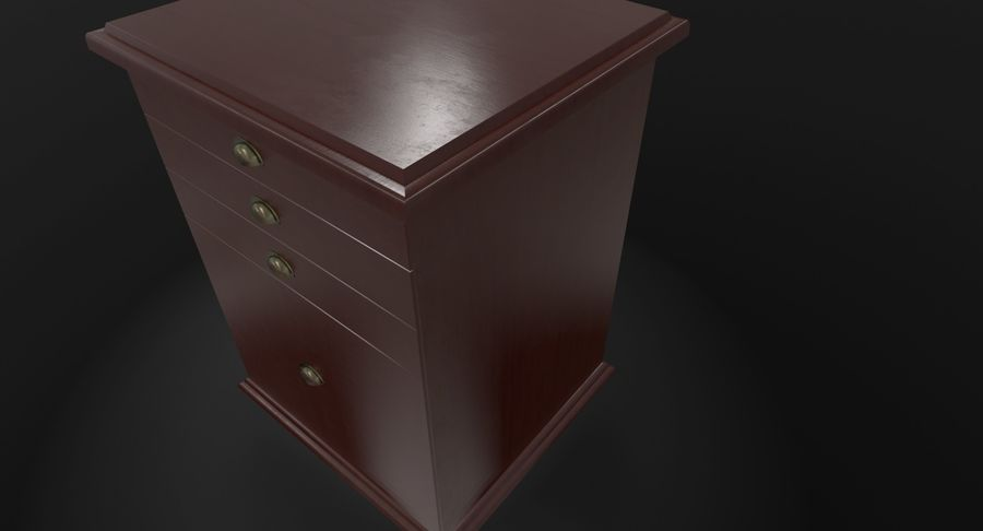Nachttisch royalty-free 3d model - Preview no. 7