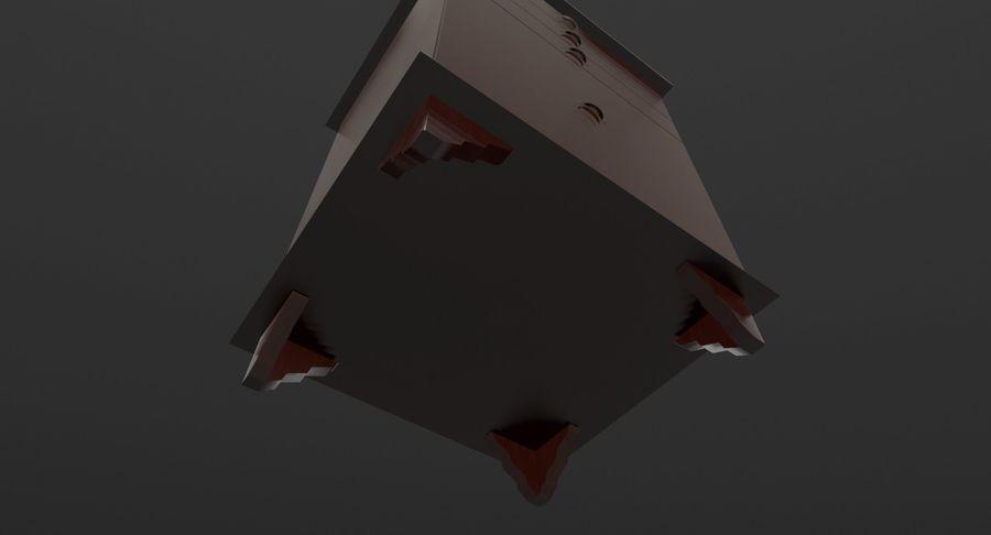 침대 탁자 royalty-free 3d model - Preview no. 8