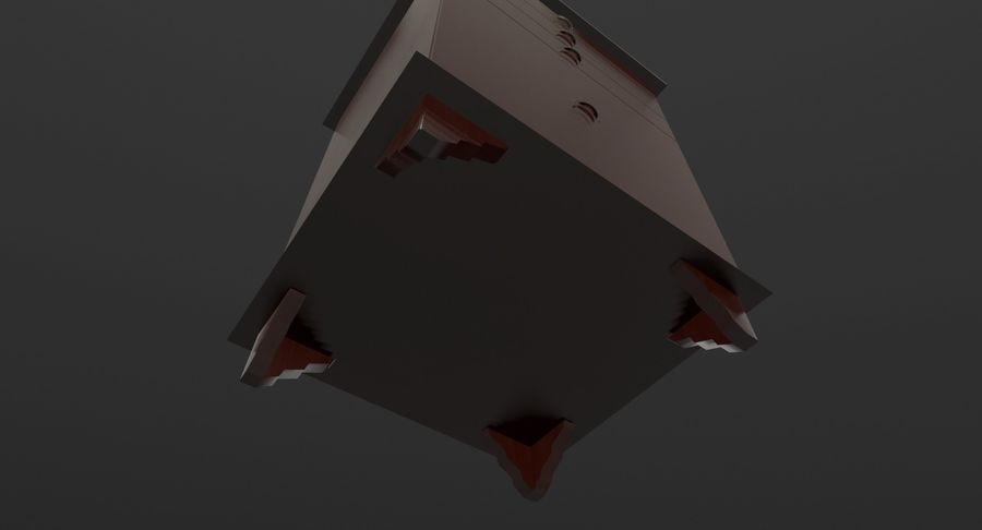 Nachttisch royalty-free 3d model - Preview no. 8