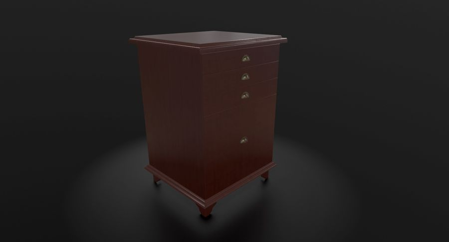 Nachttisch royalty-free 3d model - Preview no. 3