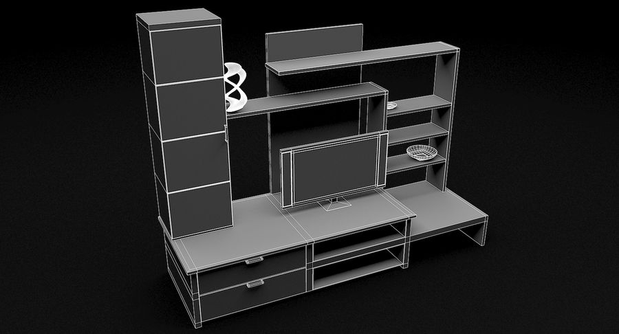 Lyxig TV-apparat royalty-free 3d model - Preview no. 9
