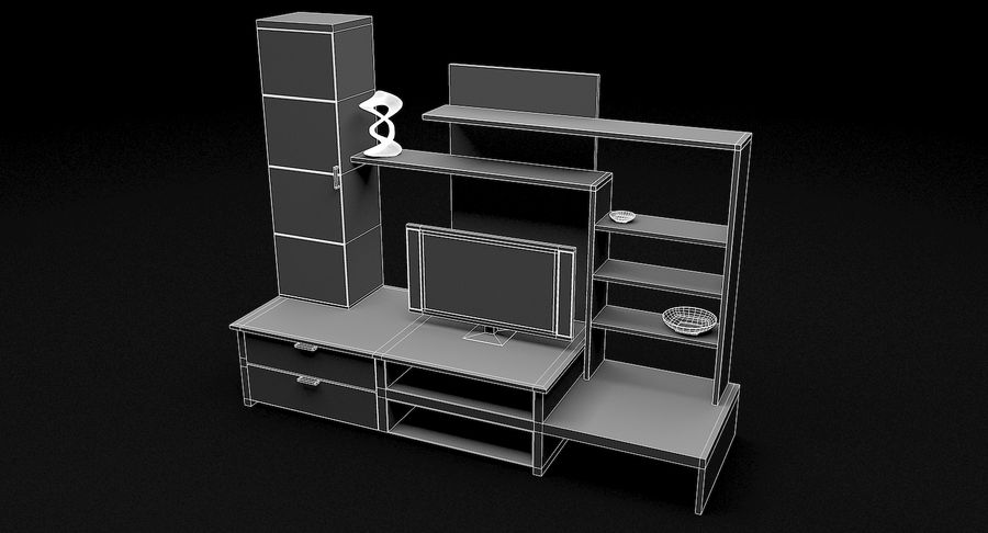 Lyxig TV-apparat royalty-free 3d model - Preview no. 10
