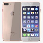iPhone 8 Plus Gold 3d model