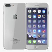 iPhone 8 Plusシルバー 3d model