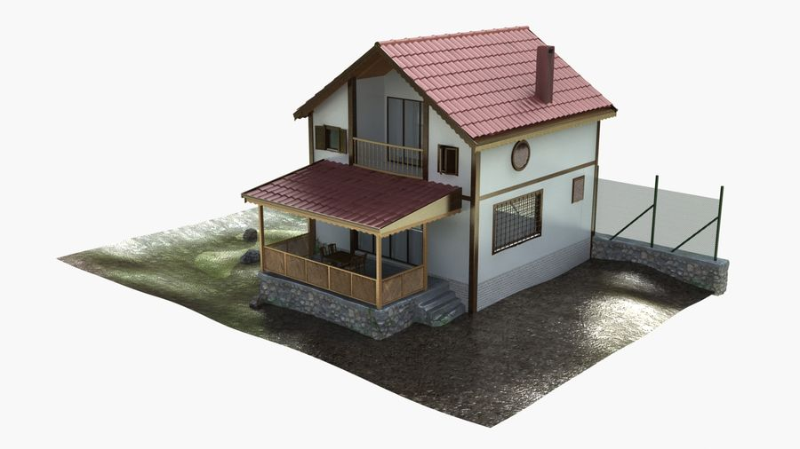 Zuhause royalty-free 3d model - Preview no. 3