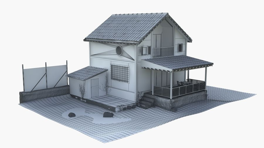 Zuhause royalty-free 3d model - Preview no. 10