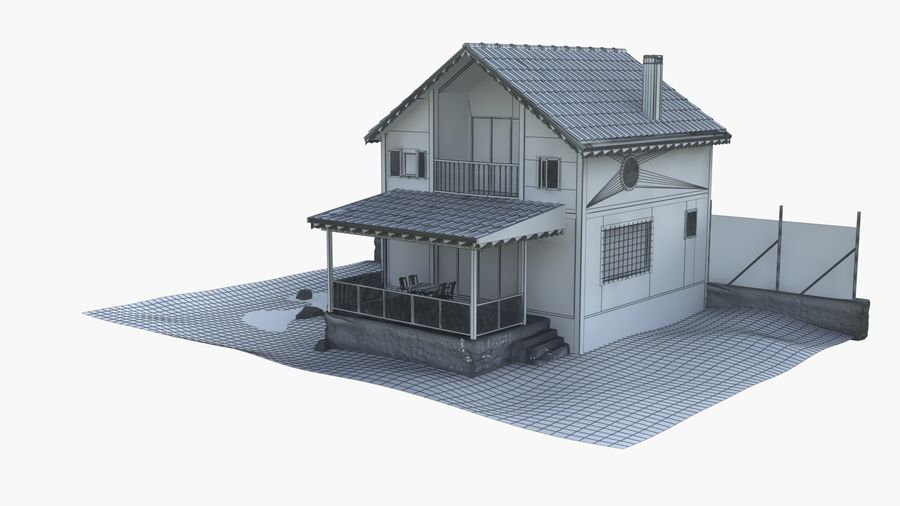 Zuhause royalty-free 3d model - Preview no. 2