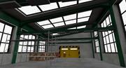 Magazijn interieur en exterieur 3d model