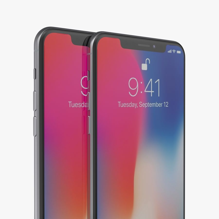 iPhone X + iPhone 8 + iPhone 8 Plus royalty-free 3d model - Preview no. 47