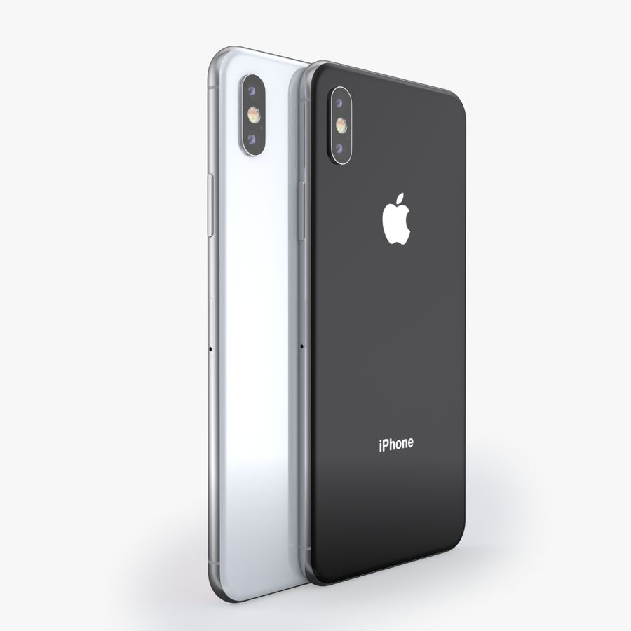 iPhone X + iPhone 8 + iPhone 8 Plus royalty-free 3d model - Preview no. 43