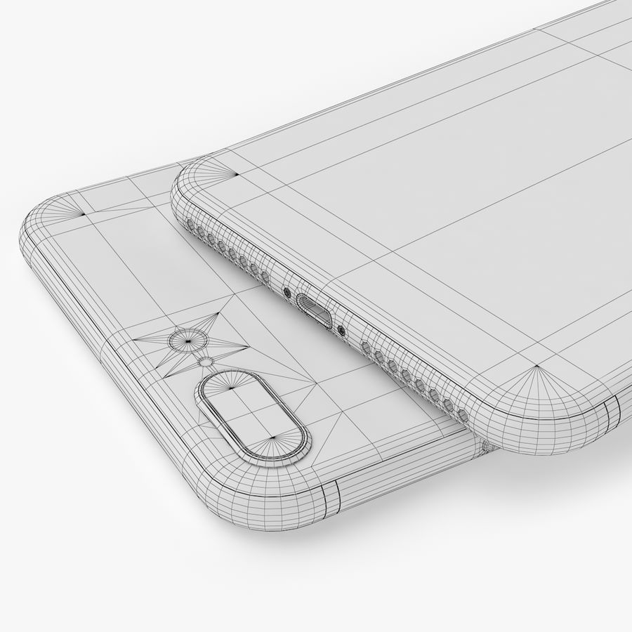 iPhone X + iPhone 8 + iPhone 8 Plus royalty-free 3d model - Preview no. 60
