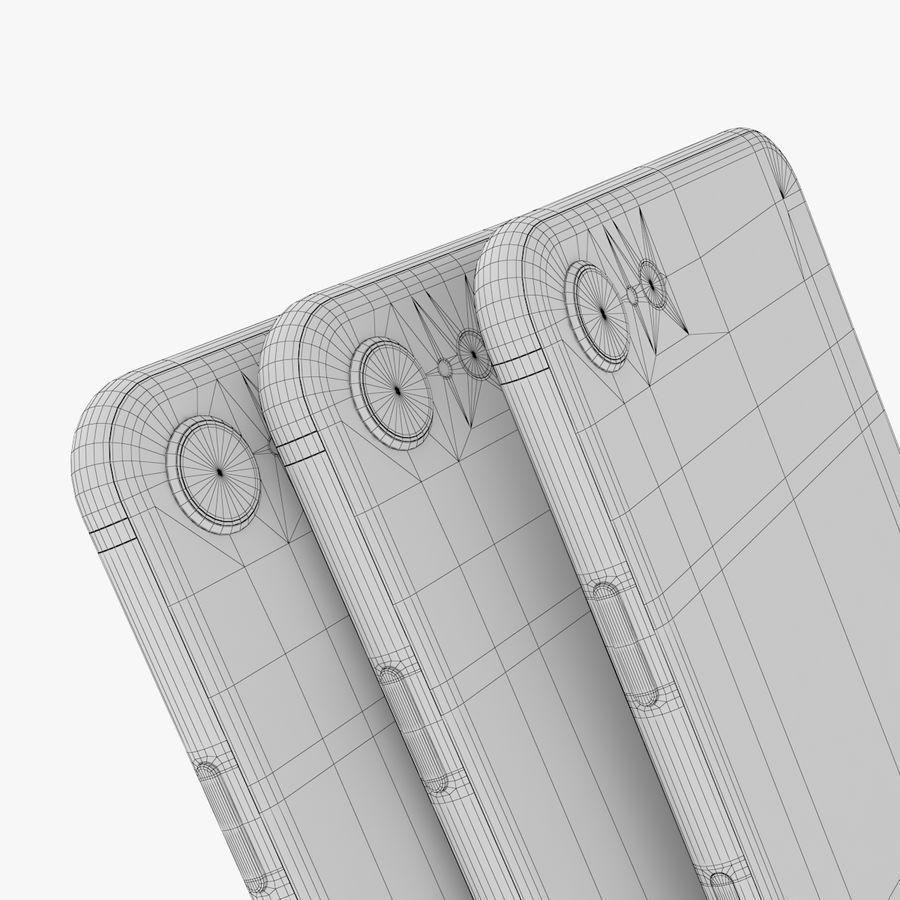 iPhone X + iPhone 8 + iPhone 8 Plus royalty-free 3d model - Preview no. 26