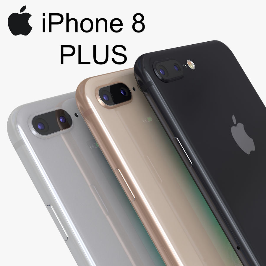 iPhone X + iPhone 8 + iPhone 8 Plus royalty-free 3d model - Preview no. 17
