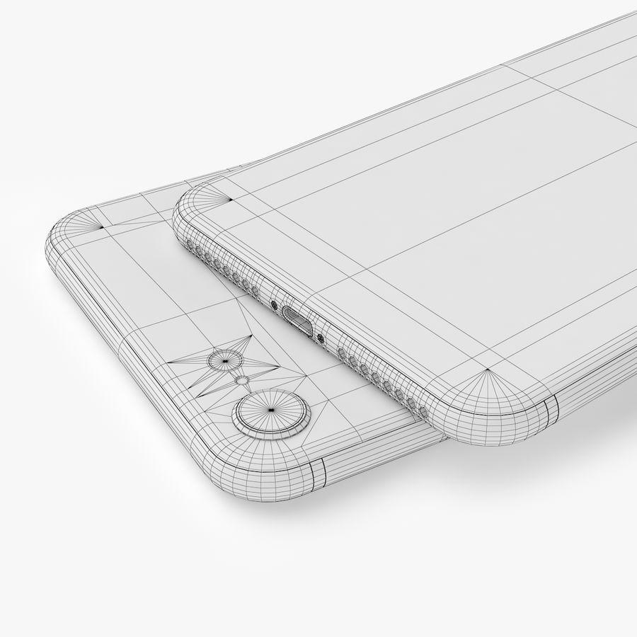 iPhone X + iPhone 8 + iPhone 8 Plus royalty-free 3d model - Preview no. 31