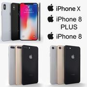 iPhone X+iPhone 8+iPhone 8 Plus 3d model