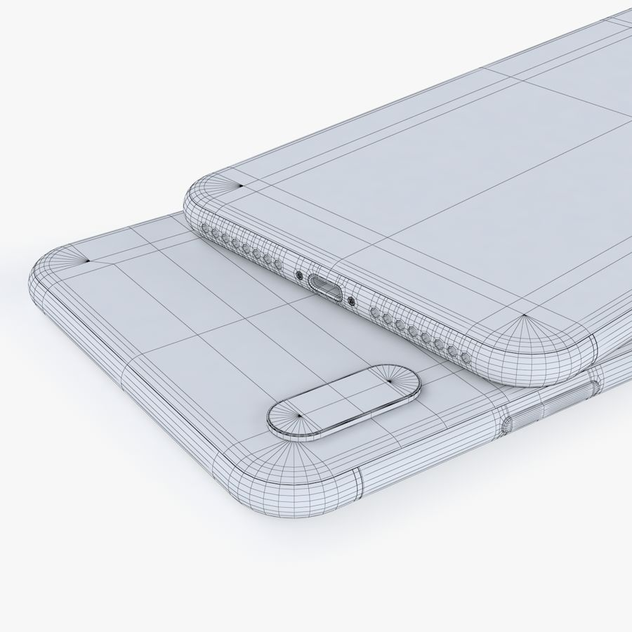 iPhone X + iPhone 8 + iPhone 8 Plus royalty-free 3d model - Preview no. 63