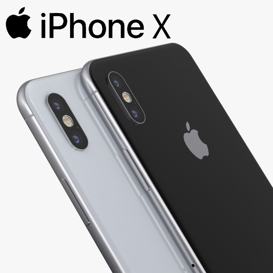 iPhone X + iPhone 8 + iPhone 8 Plus royalty-free 3d model - Preview no. 35