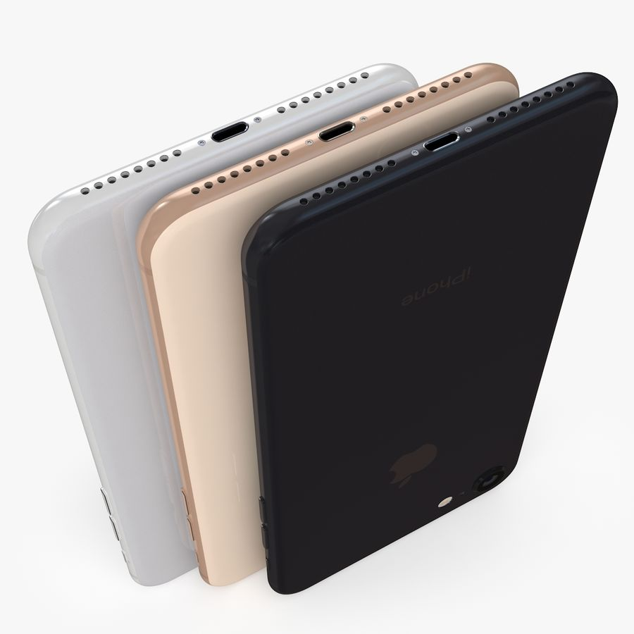 iPhone X + iPhone 8 + iPhone 8 Plus royalty-free 3d model - Preview no. 11