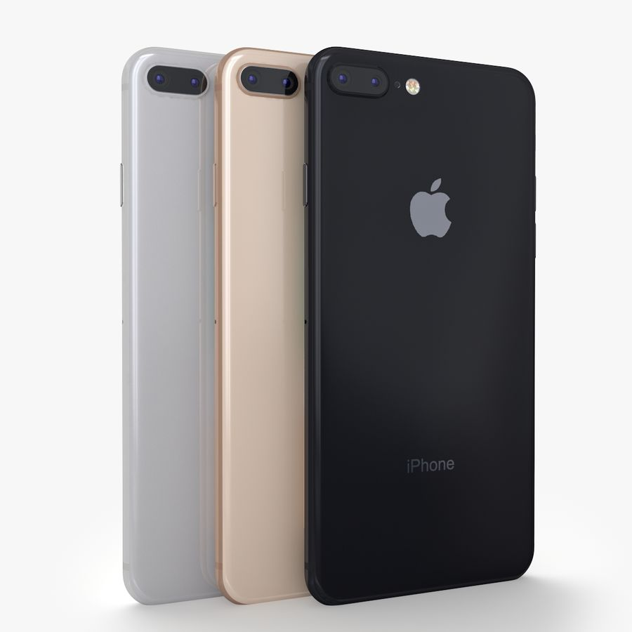 iPhone X + iPhone 8 + iPhone 8 Plus royalty-free 3d model - Preview no. 25