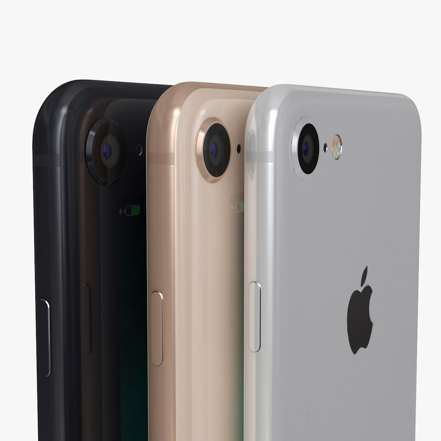 iPhone X + iPhone 8 + iPhone 8 Plus royalty-free 3d model - Preview no. 8