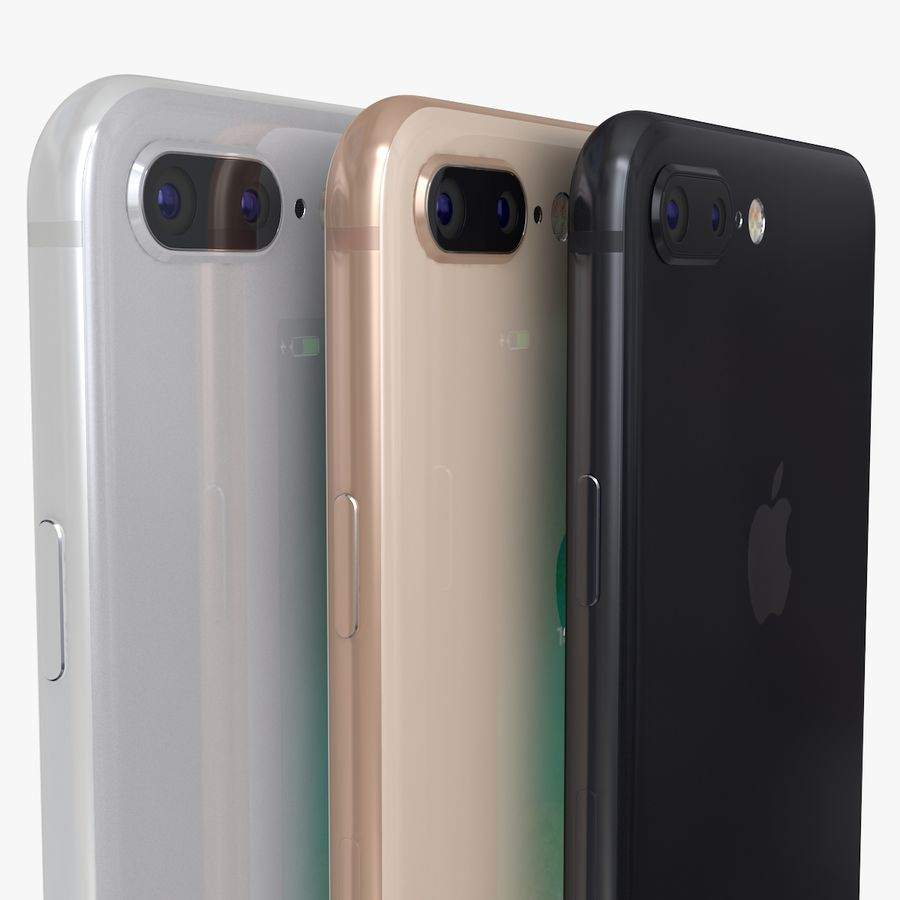 iPhone X + iPhone 8 + iPhone 8 Plus royalty-free 3d model - Preview no. 30