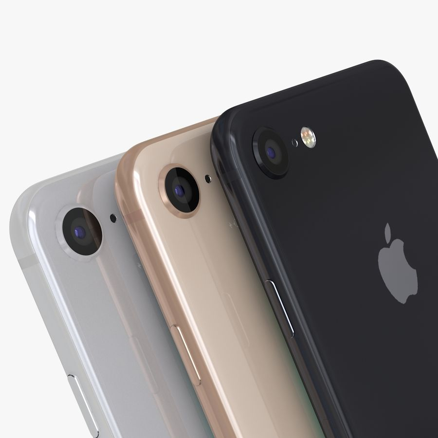 iPhone X + iPhone 8 + iPhone 8 Plus royalty-free 3d model - Preview no. 7