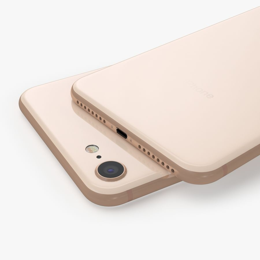 iPhone X + iPhone 8 + iPhone 8 Plus royalty-free 3d model - Preview no. 13