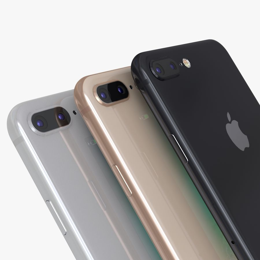 iPhone X + iPhone 8 + iPhone 8 Plus royalty-free 3d model - Preview no. 28