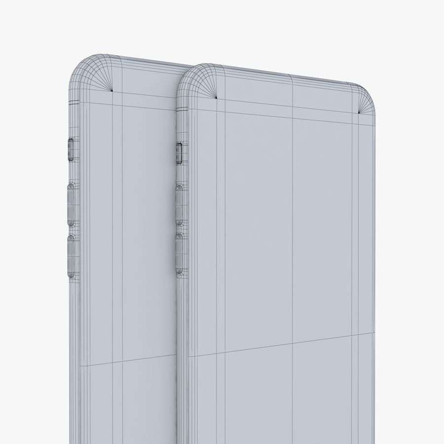 iPhone X + iPhone 8 + iPhone 8 Plus royalty-free 3d model - Preview no. 61