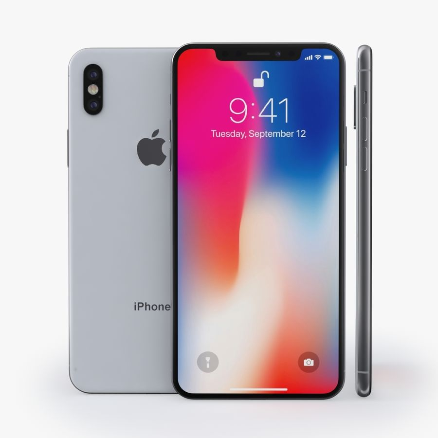iPhone X + iPhone 8 + iPhone 8 Plus royalty-free 3d model - Preview no. 41