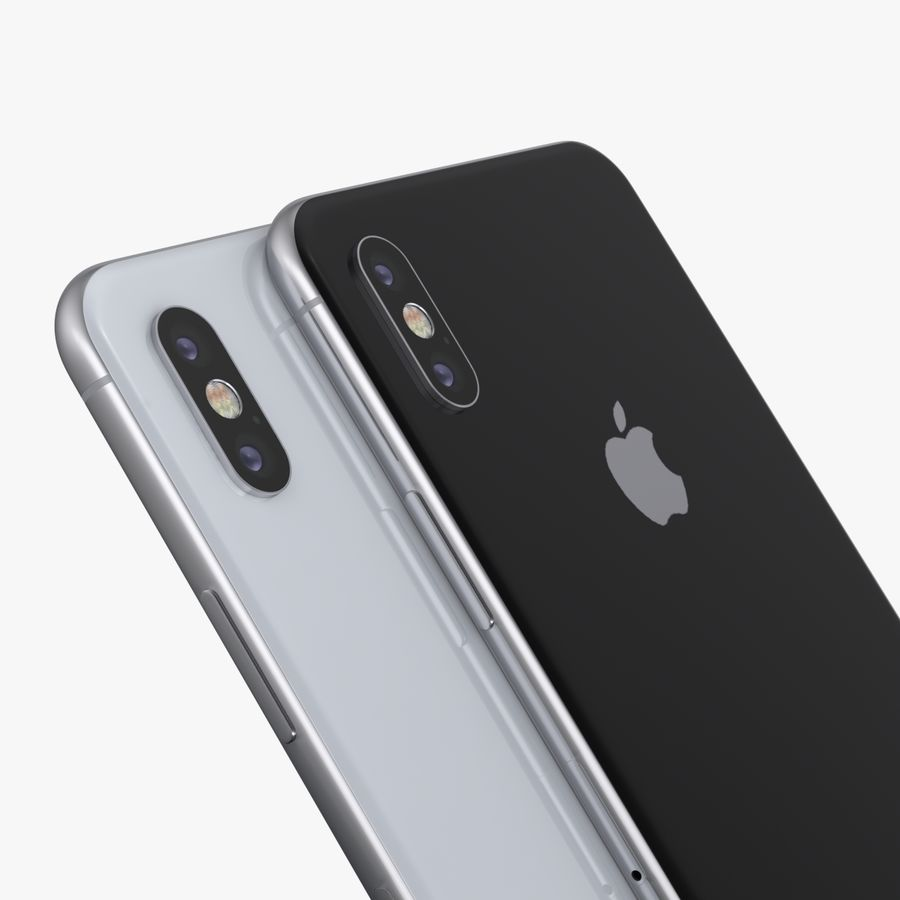 iPhone X + iPhone 8 + iPhone 8 Plus royalty-free 3d model - Preview no. 45