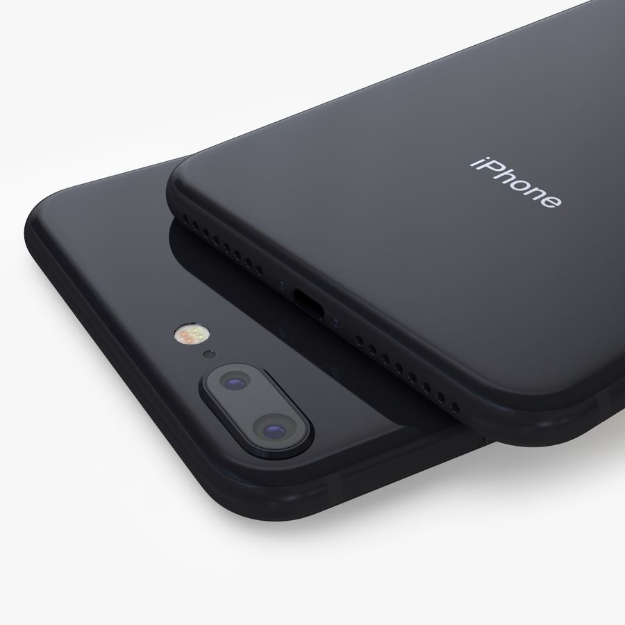 iPhone X + iPhone 8 + iPhone 8 Plus royalty-free 3d model - Preview no. 36