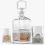 Crystal Decanter Set 3d model