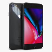 苹果iPhone 8太空灰 3d model