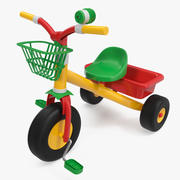 Bike for Child 3 Wheel 3D Model 3d model